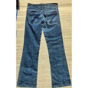 7 For All Mankind Dojo Denim Jeans Trouser Hems